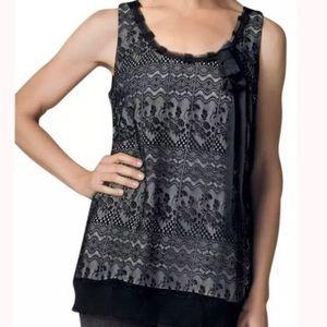 CAbi Style 552 Black Emily Lace Overlay